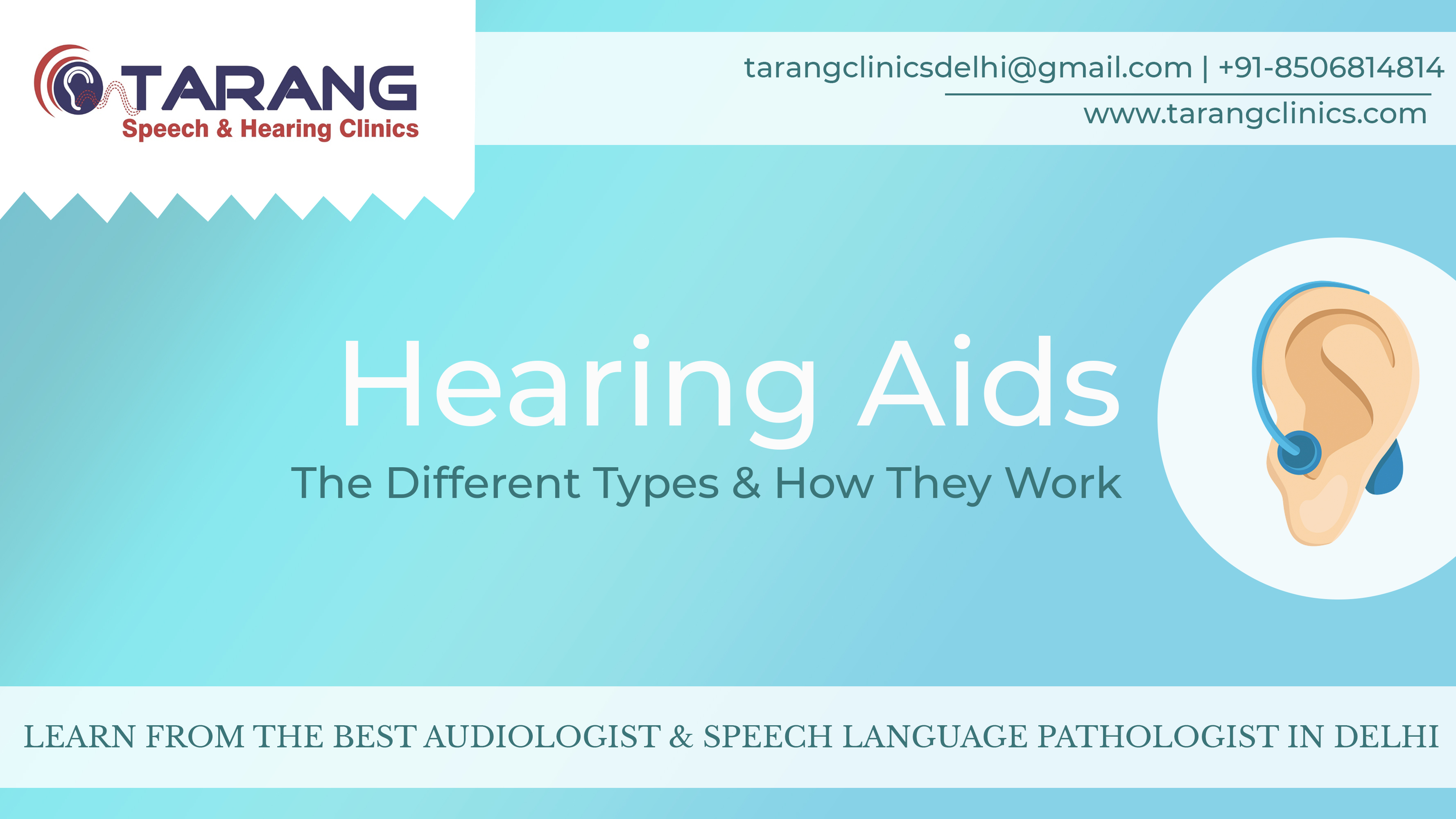 Banner- Hearing Aids: The Different Types & How They Work