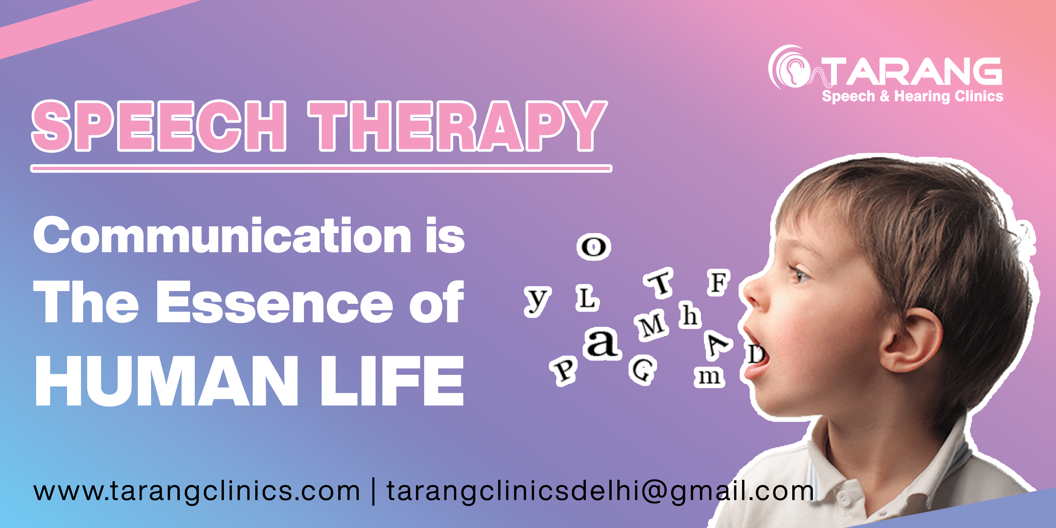 Banner - Speech Therapy: Speak more clearly with the Best Speech Therapist in Delhi NCR.